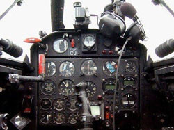 Cokpit d'avion (Fouga Magister)